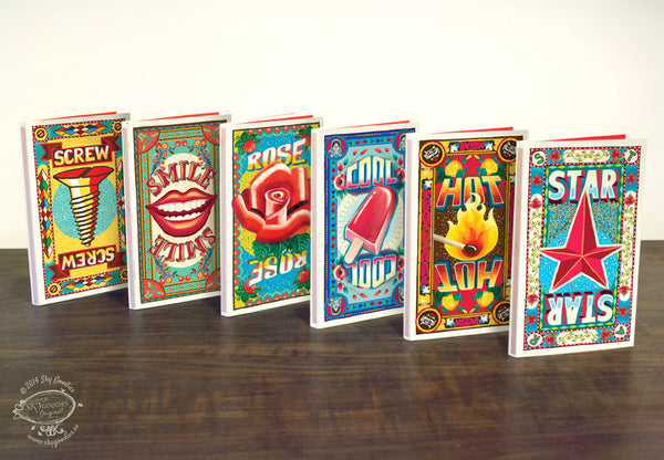 Match Books - Set of 6 designs - SERIES 1