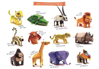 Mini Lemur Educational DIY Paper Craft Kit: Endangered Wildlife Series