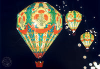 Big Hot Air Balloon Paper Lamp Shade: Blue Design - DIY Paper Craft for Home Decoration