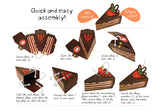 Set of 10 Chocolate Cake Gift Boxes