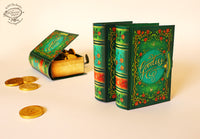 Mini Book Box: Green Design - DIY Paper Craft Kit