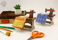 Mini Sewing Machine Desk Calendar for 2021 - DIY Paper Craft Kit