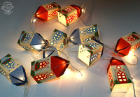 Set of 10 Mini Happy Home Paper Lamps (with Fairy Lights): Easy Paper Craft for Home Decoration