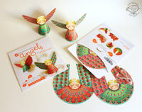 Set of 6 Decorative Paper Angels - DIY Paper Craft for Home Decoration