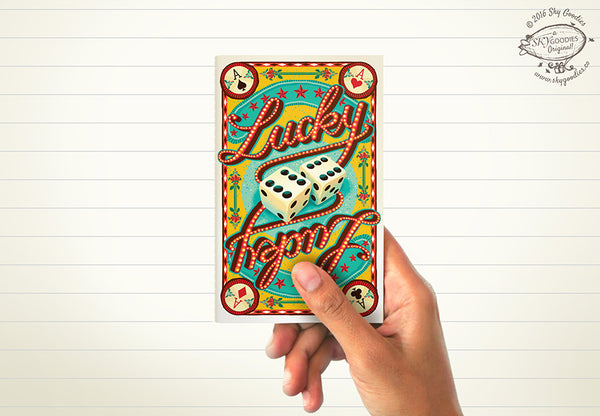 LUCKY Mini Notebook (ruled pages)