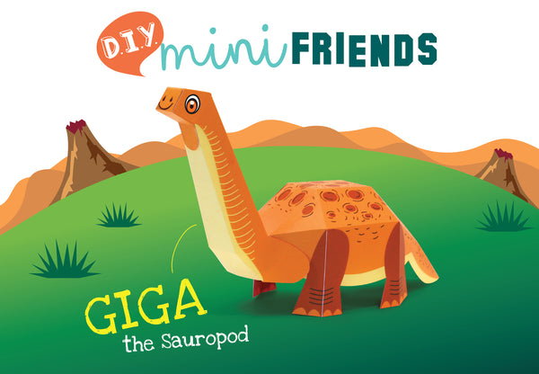 Mini Sauropod Educational DIY Paper Craft Kit: Prehistoric Wildlife Series