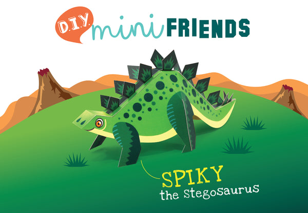 Mini Stegosaurus Educational DIY Paper Craft Kit: Prehistoric Wildlife Series