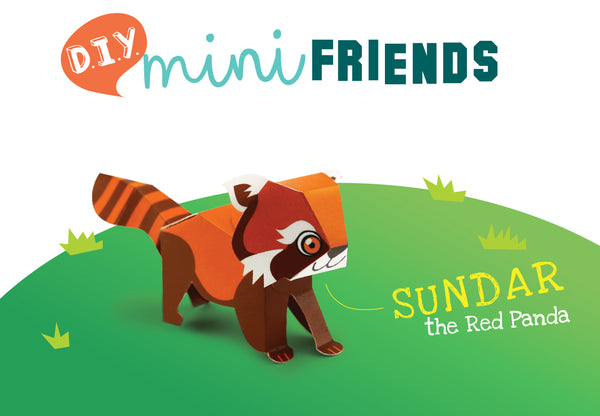 Mini Red Panda Educational DIY Paper Craft Kit: Endangered Wildlife Series