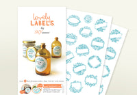 Lovely Labels: Small Round BLUE: Set of 24