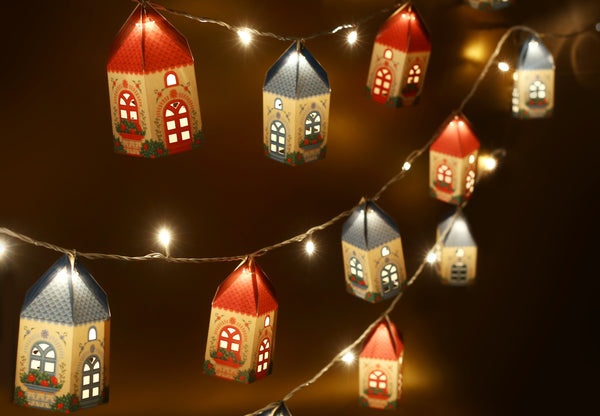 Set of 10 Mini Happy Home Lamps (with Fairy Lights)