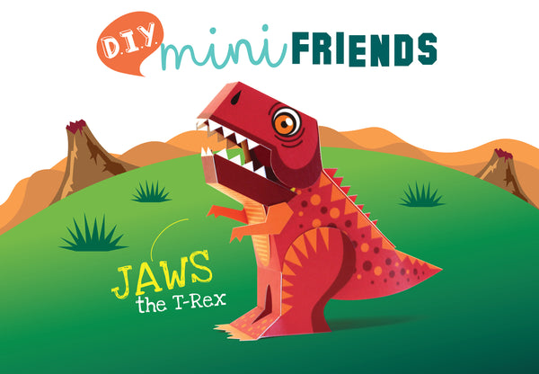 Mini T-Rex Dinosaur Educational DIY Paper Craft Kit: Prehistoric Wildlife Series