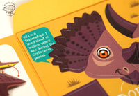 Mini Triceratops Educational DIY Paper Craft Kit: Prehistoric Wildlife Series