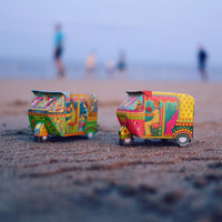 Bombay Auto Rickshaw Box: Pink design - DIY Paper Craft Kit