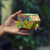 Bombay Auto Rickshaw Box: Green design - DIY Paper Craft Kit