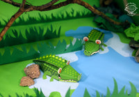 Mini Crocodile Educational DIY Paper Craft Kit: Endangered Wildlife Series