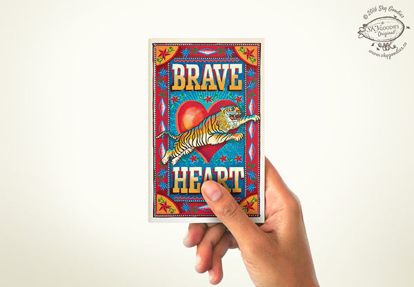 BRAVE HEART Mini Notebook (plain pages)