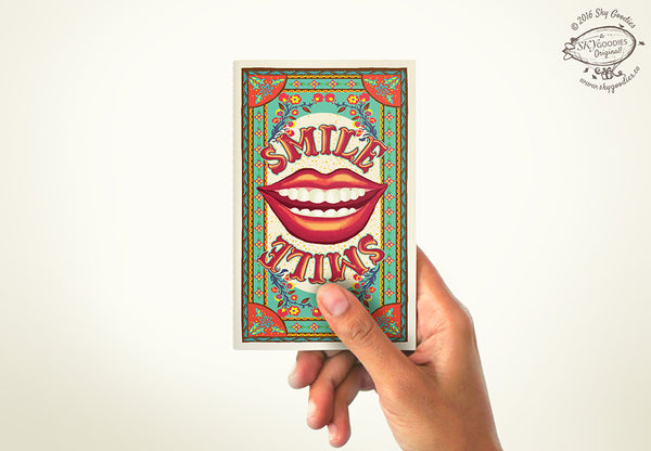 SMILE Mini Notebook (plain pages)