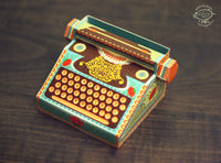 Colourful Typewriter Desk Calendar 2021 & 2022 - DIY Paper Craft Kit