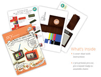 TV Photo Frame & Pen Holder (Brown) - DIY Paper Craft Kit