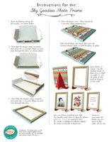 Colourful Frame - Slant Design | No Glue! Ready in minutes! DIY Paper Craft Kit