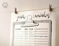 Doodle To-Do Lists, Bill Reminders and Fridge Magnet Set