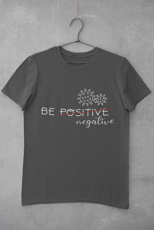 Be negative grey T-shirt