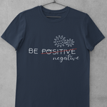 Be negative navy T-shirt