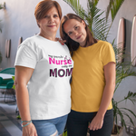mother in white t-shirt with her daughter