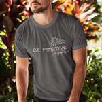 Man in grey t-shirt spreading pandemic awareness