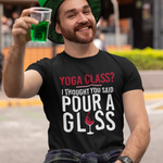 happy man wearing black T shirt enjoying green bear