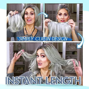 4D Silver Gray Hair Extension