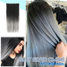 Load image into Gallery viewer, 4D Silver Gray Hair Extension