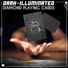 Load image into Gallery viewer, Dark-Illuminated Diamond Playing Cards