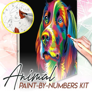 Animal Paint-by-Numbers Kit