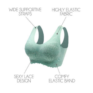 LaxChic™ Stay-In-Place Lace Bra