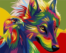 Load image into Gallery viewer, Animal Paint-by-Numbers Kit