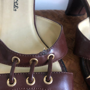Vintage Brown Mules - 6