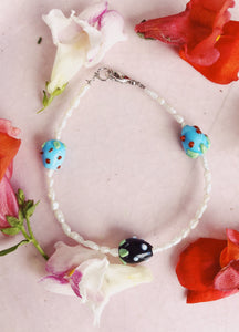 Black and Blueberry Bracelet