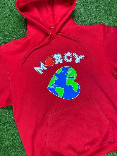 """WORLD CHANGER"" hoodie (red)"