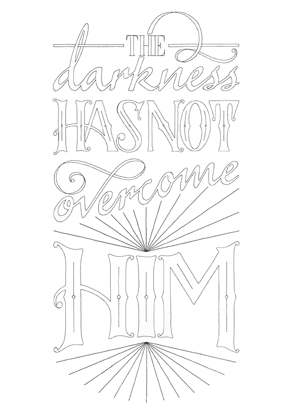 FREE Download - The Darkness Has Not Overcome Him