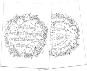 2 Christmas Colouring In Pages