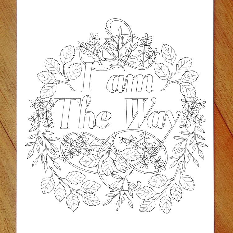 I am the way - colouring in page