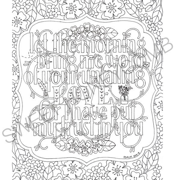Colouring Page Bible Verse Let