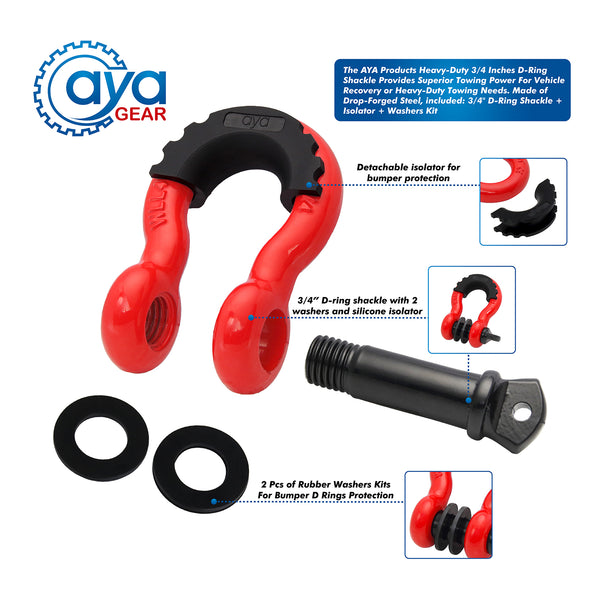 D Ring Shackle set (2 Pack)