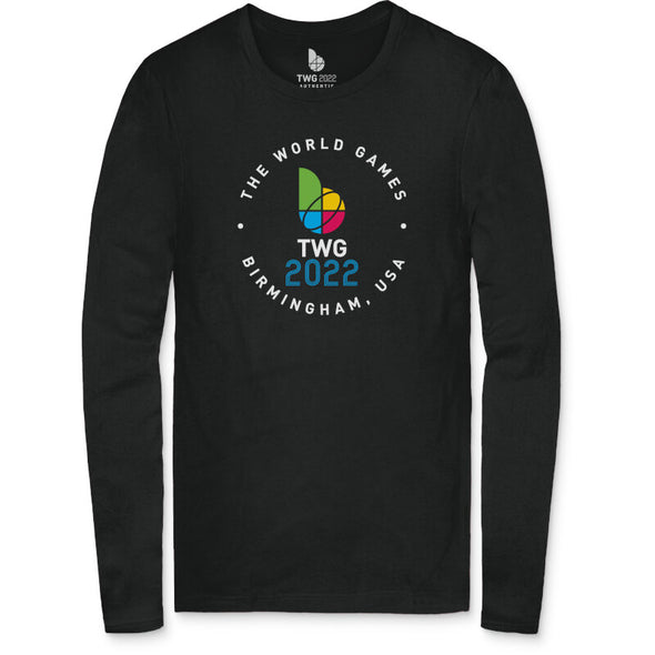 The World Games 2022 Circle TWG2022 Men's Long Sleeve T-Shirt