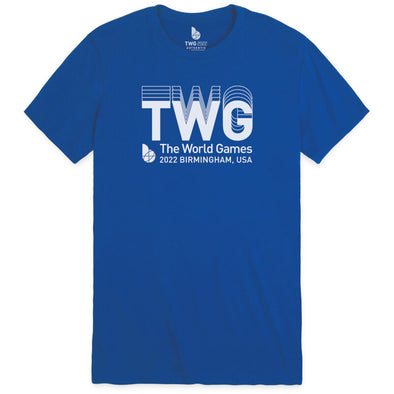 The World Games 2022 TWG 3D Wordmark Unisex Sueded Short Sleeve T-Shirt