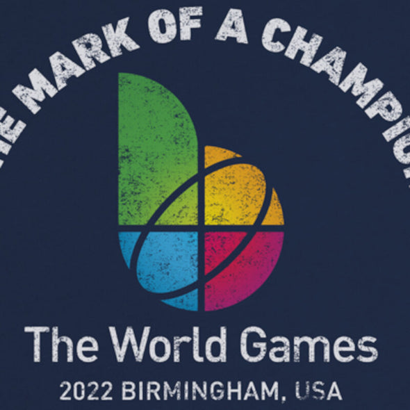 The World Games 2022 Distressed Mark Champion Unisex Sueded Short Sleeve T-Shirt