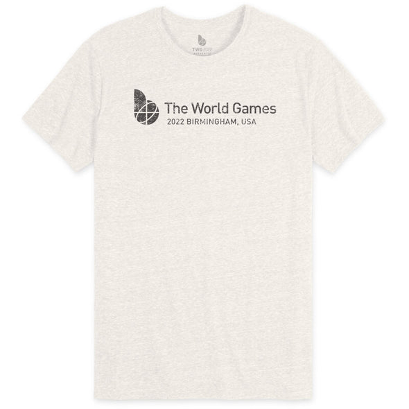 The World Games 2022 Distressed Main Logo Cross Unisex Tri-Blend Short Sleeve T-Shirt