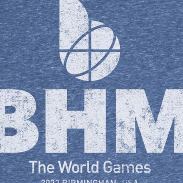 The World Games 2022 Distressed Logo BHM Unisex Tri-Blend Short Sleeve T-Shirt