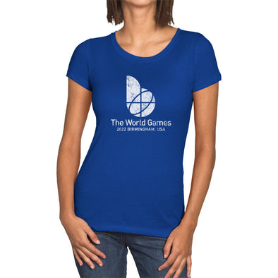 The World Games 2022 Distressed Main Logo Women's Crew Short Sleeve T-Shirt